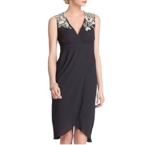 Anthropologie Meadow Rue Embroidered Dress Grey 4